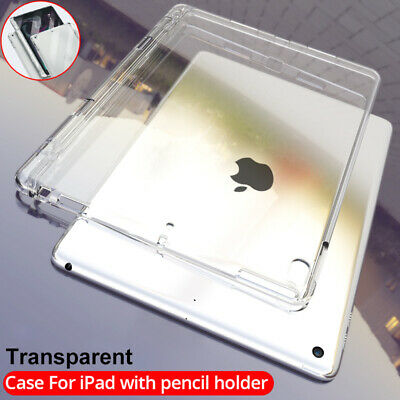 AU10.46 • Buy Clear Soft Case With Pencil Holder For Apple IPad 10.2 8th 7th 10.5 Air 9.7 6th