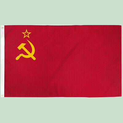Soviet Union USSR Flag Hammer Sickle Russian Socialist Red Country Flag 90*150cm • 4.09£