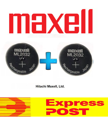 AU99.99 • Buy 2 X Maxell 3V ML2032(Loose) Lithium Rechargeable CMOS Battery