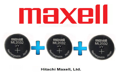 AU99.50 • Buy 3 X Maxell 3V ML2032(Loose) Lithium Rechargeable CMOS Battery