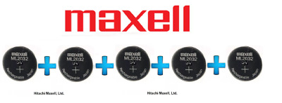 AU99.50 • Buy 5 X Maxell 3V ML2032(Loose) Lithium Rechargeable CMOS Battery