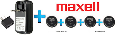 AU50.99 • Buy 4 X Maxell 3V ML2032(Loose) Lithium Rechargeable CMOS Battery AND 1 X Charger