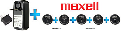 AU53.75 • Buy 5 X Maxell 3V ML2032(Loose) Lithium Rechargeable CMOS Battery AND 1 X Charger