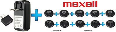 AU102.50 • Buy 10 X Maxell 3V ML2032(Loose) Lithium Rechargeable CMOS Battery AND 1 X Charger