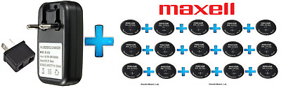 AU133.99 • Buy 15 X Maxell 3V ML2032(Loose) Lithium Rechargeable CMOS Battery AND 1 X Charger