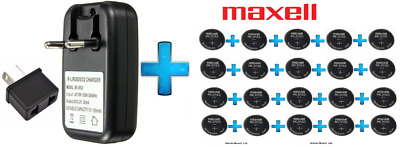 AU165.99 • Buy 20 X Maxell 3V ML2032(Loose) Lithium Rechargeable CMOS Battery AND 1 X Charger