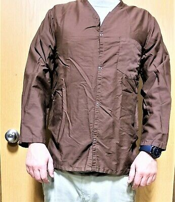 $12.95 • Buy PPE Scrubs Jacket / Coat / Top Snap Down Brown NEW MILITARY ISSUE Medium