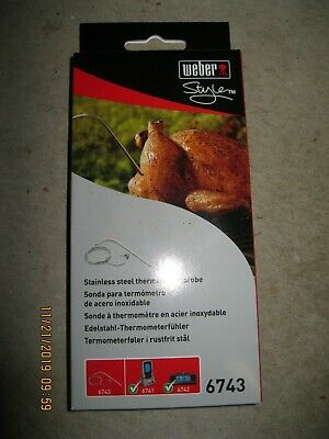$ CDN17.70 • Buy Weber 6743 Grill BBQ Digital Thermometer Probe New In Box! For 6741 & 6742 Units