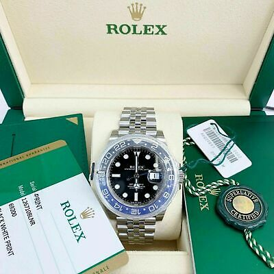 $ CDN24141.39 • Buy Rolex 40MM Ceramic GMT Master II Batman Stainless Steel Watch Ref 126710 Jubilee