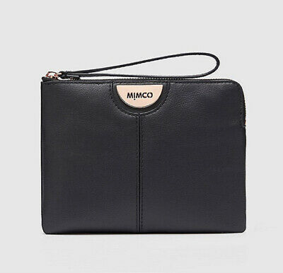 AU48.99 • Buy MIMCO Gala Vegan Medium Pouch Wallet Black • Brand New• 100% Authentic