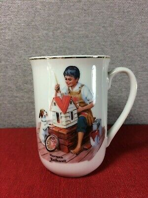 $ CDN12.96 • Buy 1982 Norman Rockwell ''A DOLLHOUSE FOR SIS'' Cup/ Mug The Norman Rockwell Museum