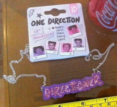 £4.99 • Buy Directioner 18  Necklace 1D One Direction Claire's Accessories Official £7 RRP
