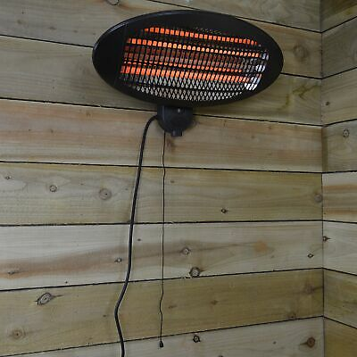 £38.50 • Buy 2,000w Wall Mounted Black Electric Outdoor Garden / Patio Heater With 3 Settings