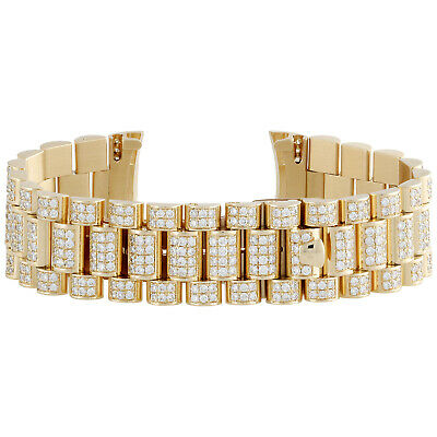 $ CDN21646.84 • Buy Mens 18K Yellow Gold Diamond Watch Band For Rolex Day-Date President 8.90 CT.