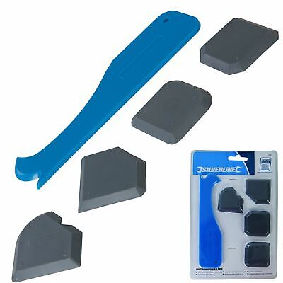 £3.69 • Buy Silverline 5pc Sealant Tool Smoothing Silicone Grout Spreader Caulk Finishing