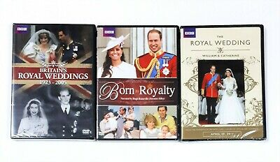 $ CDN30 • Buy Lot Of 3 British Royalty DVDs - Britain's Royal Weddings And Born To Royalty