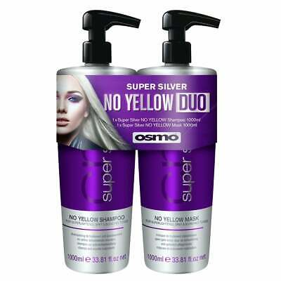 £23.99 • Buy Osmo Super Silver No Yellow Shampoo & Mask Duo Pack 1 Litre (FAST DISPATCH)