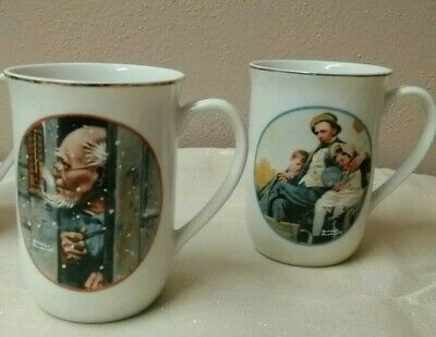 $ CDN7.49 • Buy Lot Of 2 Norman Rockwell Japan Fine Porcelain Made Exclusively For Imm Mugs