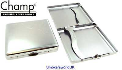 Cigarette Case -- Champ Chrome Design 20 King Size -- NEW Chks5 • 7.79£