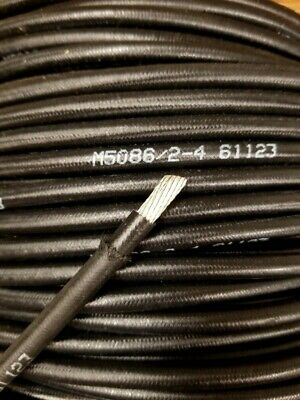 25' Foot, 4 AWG Gauge Tinned Copper Wire, Stranded Marine Boat Battery Cable USA • 30$