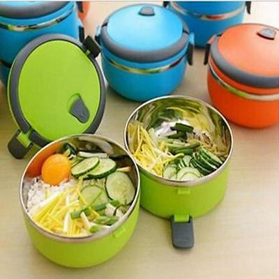 AU10.12 • Buy Lunch Box Bento Thermos Heated Food Stainless Steel Storage Container LL