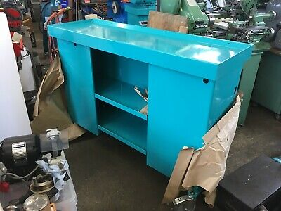 Myford Super 7 Ml7 Lathe Industrial Cabinet Stand  Long Bed / Aqua • 600£