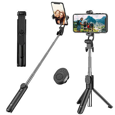 AU19.42 • Buy Bluetooth Monopod Tripod Selfie Stick Handheld Wireless Remote For IOS Android