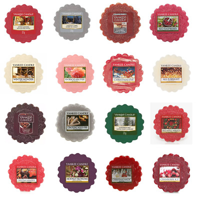 Yankee Candle Wax Tart Melts - 8 Hour Scented For Burners - Christmas Editions • 2.49£