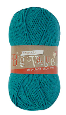£4.55 • Buy King Cole Big Value Recycled Cotton Aran - 6 Colours In Stock - #259