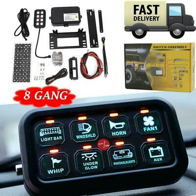 $129.99 • Buy 8 Gang Switch Panel Relay On-Off Control LED Light Bar Car Boat Marine Off Road