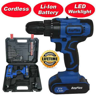 View Details 21-Volt Drill 2 Speed Electric Cordless Drill / Driver With Bits Set & Battery • 47.43$