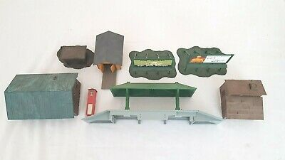 $ CDN53.62 • Buy I) HO SCALE MODEL TRAINS BUILT BUILDINGS INDUSTRIAL TRACK SIDE SHED SHACK SIGNS