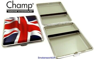 Cigarette Case -- Champ Union Jack Flying Flag 20 King Size -- NEW Chks15 • 6.99£