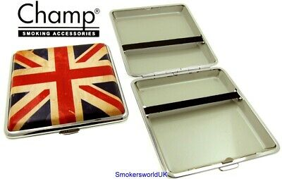 Cigarette Case -- Champ Union Jack Vintage Flag 20 King Size -- NEW Chks17 • 6.99£