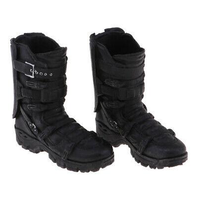 $12 • Buy 1/6 Male Ankle Boot Shoes For 12inch Action Figure Hottoys   Enterbay