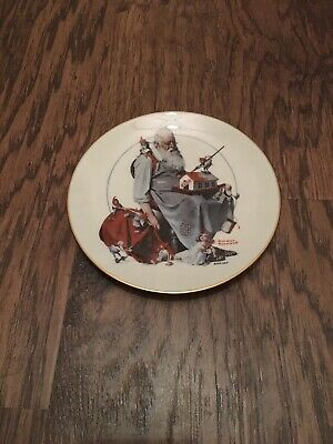 $ CDN20.93 • Buy Norman Rockwell  Santa's Helpers  Gorham Christmas Collectors Plate 1979
