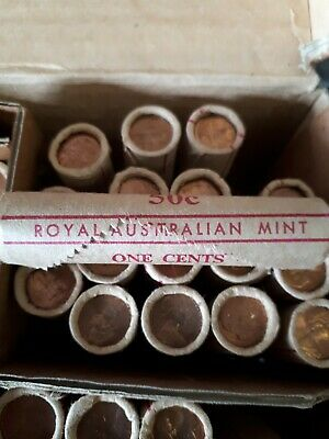 AU9.95 • Buy 1980 Royal Australian Mint  1 X 1c One Cent (50 Coins) In The Roll T/T