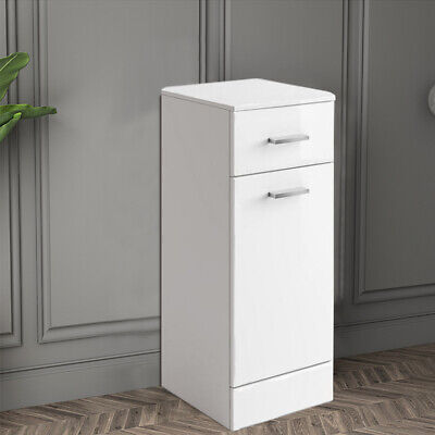 £81.99 • Buy Bathroom Cabinet Storage Cloakroom Laundry Unit Furniture 300x300 Mm Gloss White