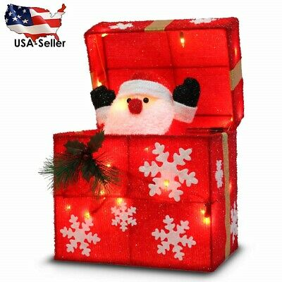 "$52 • Buy 12"" Automatically Open Santa Claus Gift Box Indoor/Outdoor Christmas Decoration"