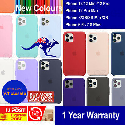 AU9.89 • Buy New Silicone Case Cover For IPhone 12 Mini Pro XS MAX XR 7 8 6 Plus Shockproof