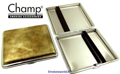 Cigarette Case -- Champ Vintage Leatherette Gold 20 King Size -- NEW Chks29 • 6.49£