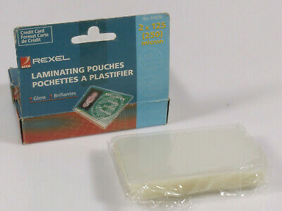 £34.30 • Buy PRL) POUCHES PLASTIFICATRICE CREDIT CARD LAMINATING POUCHES 54X86 Mm REXEL 41670