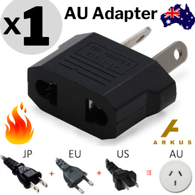 AU2.94 • Buy 🔥1x Europe EU Japan JP / US To Australia AU Power Plug Adapter Travel Converter