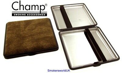 Cigarette Case -- Champ Canvas Brown 20 King Size -- NEW Chks31 • 6.99£
