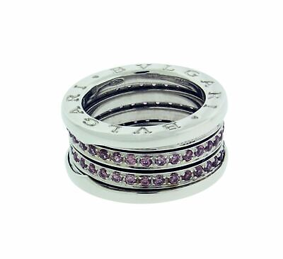 AU3381.47 • Buy BVLGARI B.ZERO1 4 BAND 18K Gold Pave Pink Tourmaline Ring 51, USA 5.75