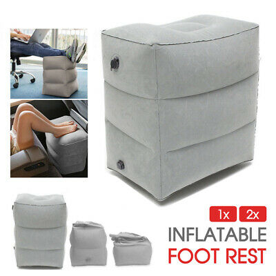 AU14.94 • Buy 1/2x Travel Air Pillow Inflatable Foot Rest Cushion Office Home Leg Footrest AU