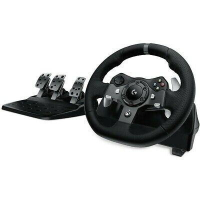 Racing Steering Wheel Logitech G920 Dual-Motor Feedback With Pedals Xbox One PC • 325.99$