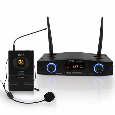 £58.43 • Buy Compact Pro Wireless Cordless Mic Microphone System Headset Lavalier Belt Pack
