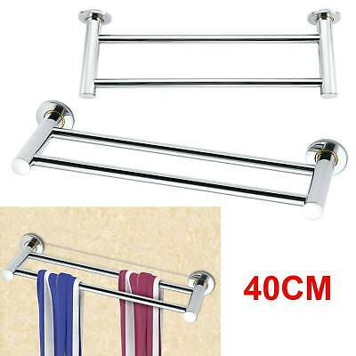 £5.99 • Buy 40cm Double Towel Rail Rack Holder Wall Mounted Bathroom Kitchen Stainless Steel