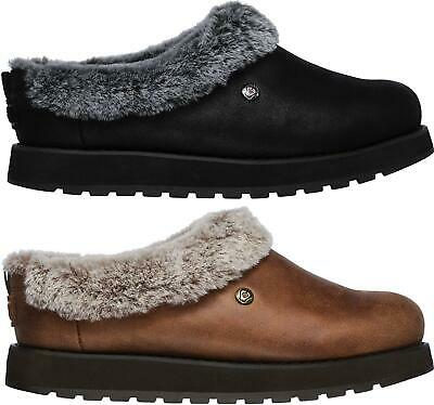 Skechers KEEPSAKES R E M Ladies Womens Faux Fur Faux Leather Mule Clog Slippers • 43£